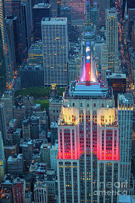 Empire State Photograph - Patriotic Empire State by Inge Johnsson