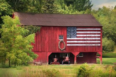 Patriotic Barn Photograph - Patriotic Farmer by Lori Deiter