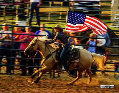Photograph - Patriotic Flag Review by Jeff Kurtz