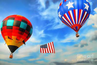 Photograph - Patriotic Flight by Dyle   Warren