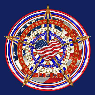 Whitehouse Digital Art - Patriotic For You America Where It Loud And Proud by Bill Campitelle