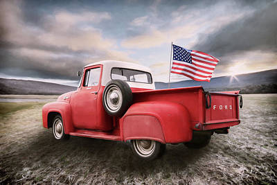 Photograph - Patriotic Ford by Lori Deiter