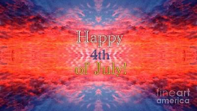 Patriotic Fourth Of July Greeting Original by Kimberlee Baxter