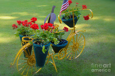 Photograph - Patriotic Garden Decor by Tanya Searcy