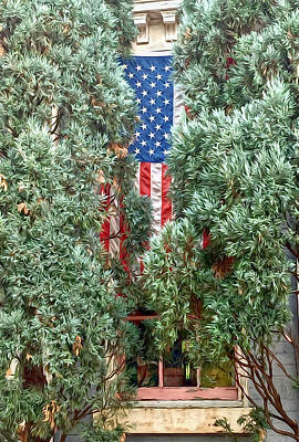 Photograph - Patriotic Georgetown Home by Lorella Schoales