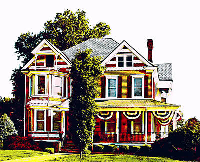 Photograph - Patriotic House #1 by Susan Vineyard