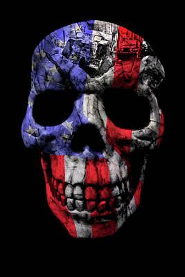 Photograph - Patriotic Jeeper Skull Yj Wrangler by Luke Moore