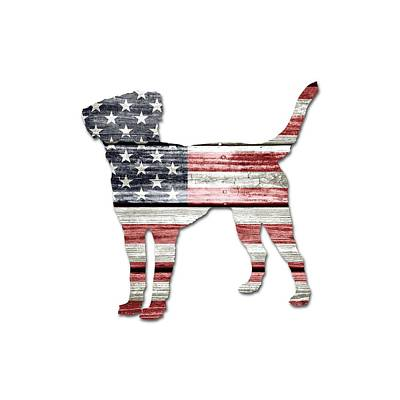 Labs Digital Art - Patriotic Labrador Retriever by Lisa Crisafi