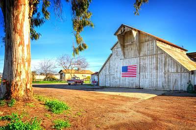 Photograph - Patriotic Los Banos Barn by Spencer McDonald