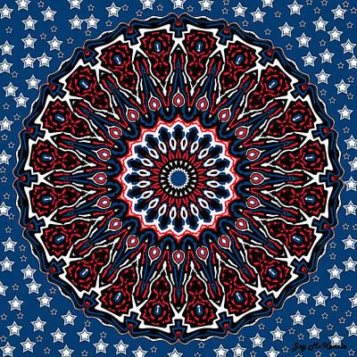 4th July Digital Art - Patriotic Mandala by Joy McKenzie