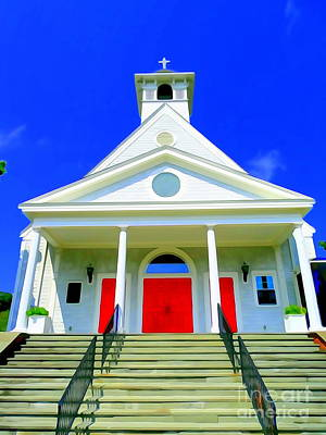 Digital Art - Patriotic Parish by Ed Weidman