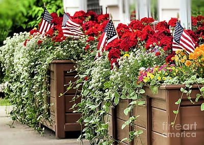 Photograph - Patriotic Planters by Janice Drew
