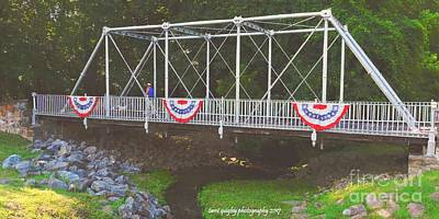 Photograph - Patriotic Pony Bridge  by Tami Quigley