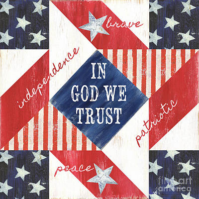 Liberty Painting - Patriotic Quilt 2 by Debbie DeWitt