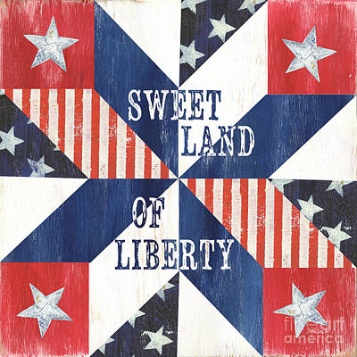 Liberty Painting - Patriotic Quilt 3 by Debbie DeWitt