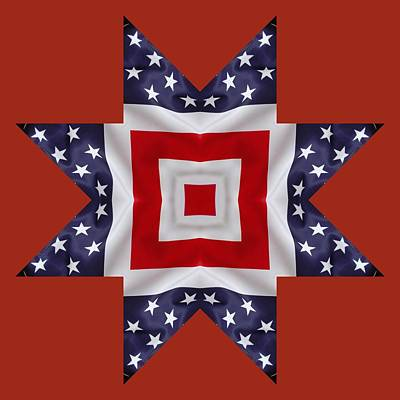 Digital Art - Patriotic Star 1 - Transparent Background by Jeffrey Kolker