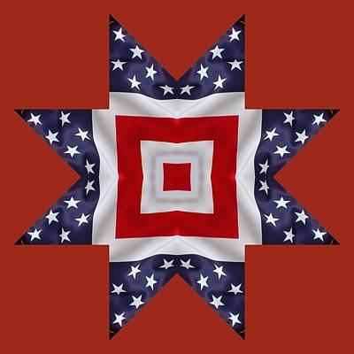 4th Digital Art - Patriotic Star 1 - Transparent Background by Jeff Kolker