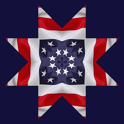 Digital Art - Patriotic Star 2 - Transparent Background by Jeffrey Kolker