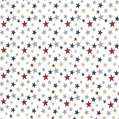 Digital Art - Patriotic Stars Red White Blue Repeating Pattern Vector by Tracey Harrington-Simpson