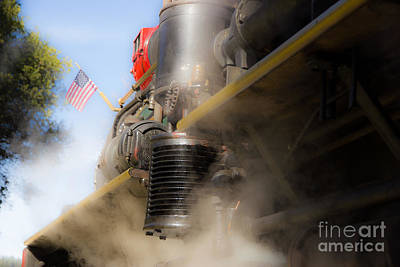 Patriotic Steam Train Art Print by Juan Romagosa
