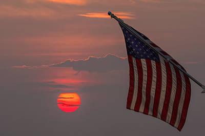 Patriotic Sunset Art Print by Mark Papke