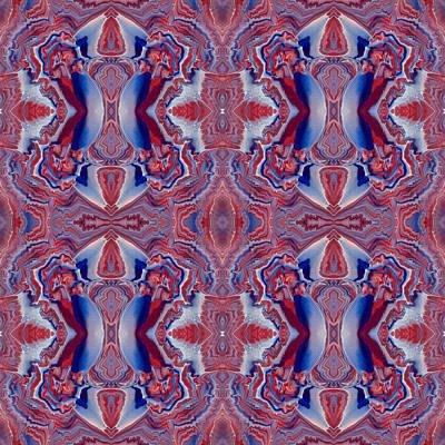 Painting - Patriotic Tiles by Lori Kingston