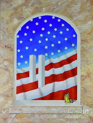 Painting - Patriotic View by Mary Scott