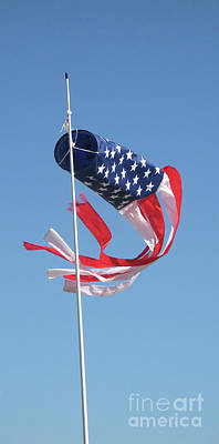 Photograph - Patriotic Windsock by Ann Horn