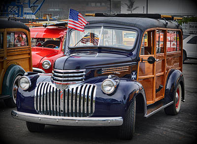Photograph - Patriotic Woodie by AJ Schibig