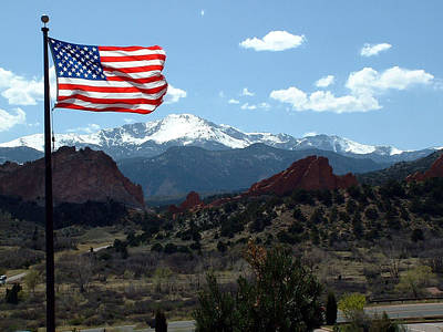 Patriotism At Pikes Peak Original by Diane Wallace