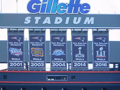 Photograph - Patriots Championship Banners by Catherine Gagne