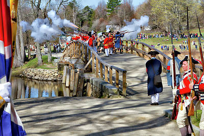 Shot Heard Round The World Photograph - Patriots Day by Larry Richardson