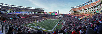 Gillette Stadium Photograph - Patriots Offense by Juergen Roth