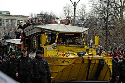Photograph - Patriots Super Bowl Victory Parade by Mike Martin