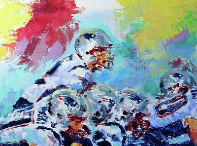 Derek Russell Wall Art - Painting - Patriots Take Charge by Derek Russell