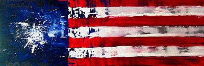July 4 Mixed Media - Patriot's Theme by Charles Jos Biviano