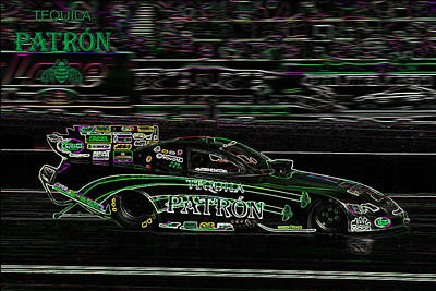 Drag Racing Mixed Media - Patron Flopper by Darrell Foster