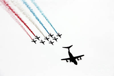 Patrouille De France Flyover Art Print by Nishanth Gopinathan