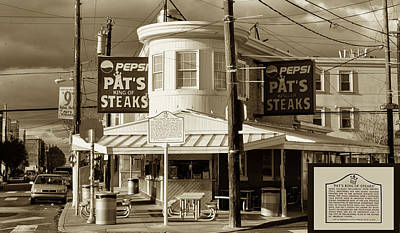 Pat's King Of Steaks - Philadelphia Art Print by Bill Cannon