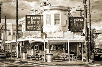 Phillies Digital Art - Pats Steaks In Philadelphia by Bill Cannon