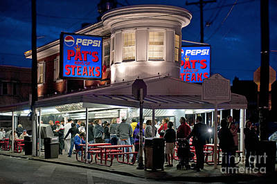 Phillies Photograph - Pat's Steaks by John Greim