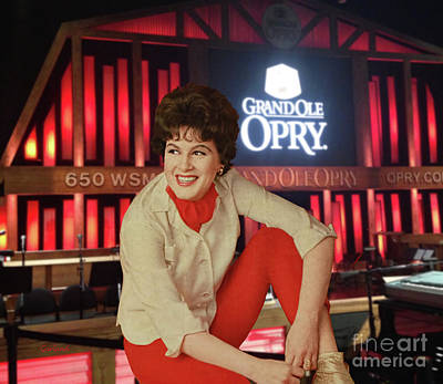 Patsy Cline At The Opry Art Print