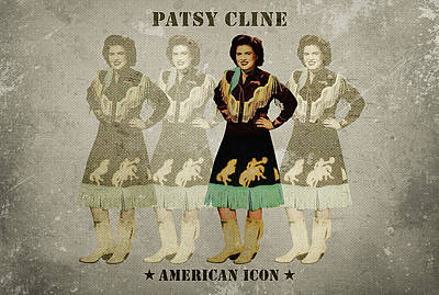Songstress Digital Art - Patsy Cline by David Richardson
