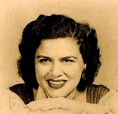 Patsy Cline Art Print by Jeff DOttavio