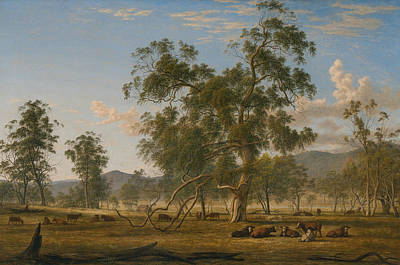 Painting - Patterdale Landscape With Cattle  by John Glover
