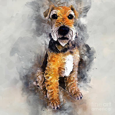 Painting - Patterdale Terrier by Ian Mitchell
