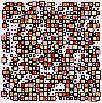 Tribal Art Painting - Pattern Art 301mx by Gull G