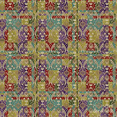 Digital Art - Pattern Damask Rooster-l by Jean Plout