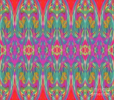 Digital Art - Pattern For Textiles  by Expressionistart studio Priscilla Batzell