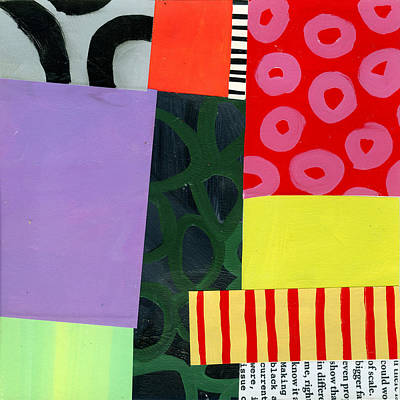 Abstract Pattern Painting - Pattern Grid # 4 by Jane Davies